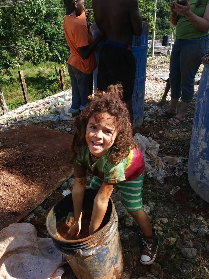 Fun in the Mud in 9 Mile, St Ann, Jamaica WI